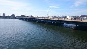 Harvard bridge Charles river boston Royalty Free Stock Image