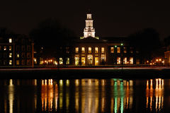 Harvard Business School. At Night Stock Photography