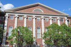 Harvard. Cambridge, Massachusetts in the United States. Harvard University - Lehman Hall Royalty Free Stock Photos
