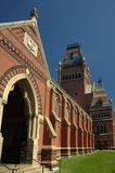 Harvard campus. Campus of Harvard University in Boston, clear blue sky Royalty Free Stock Image