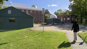 Harvard-College-Observatorium, Massachusetts in den Vereinigten Staaten stock footage