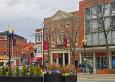 Harvard Cooperative Society in Cambridge. Cambridge, USA - April 29, 2015: Harvard Cooperative Society, The Coop, in Cambridge, Massachusetts, MA, USA. It is a royalty free stock photos