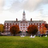 Harvard dorm building Royalty Free Stock Images