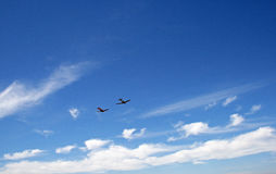 HARVARD FLYING HIGH IN A BLUE SKY Royalty Free Stock Photos