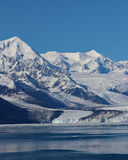 Harvard Glacier with blue sky background stock image