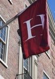 Harvard ` H ` flaga Harvard kwadrat, MA obraz royalty free