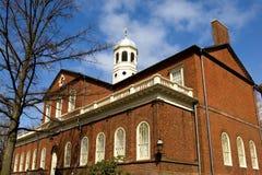 Harvard Hall. Harvard University campus in Cambridge, Massachussets Royalty Free Stock Images