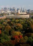 Harvard jesienią stadionie Fotografia Royalty Free