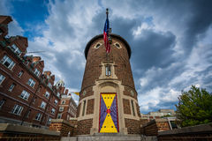 The Harvard Lampoon Building, at Harvard University, in Cambridg Royalty Free Stock Photography
