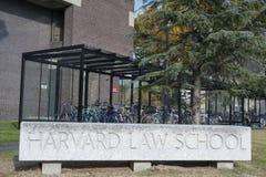 Harvard Law School-Hochschulhistorisches Gebäude in Cambridge, MA Lizenzfreies Stockbild
