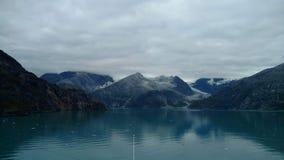 Harvard lodowa szkoły wyższej Fjord Alaska Wielki lodowiec ono ślizga się w ocean spokojnego w Alaska fotografia royalty free