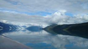 Harvard lodowa szkoły wyższej Fjord Alaska Wielki lodowiec ono ślizga się w ocean spokojnego w Alaska obrazy stock