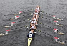 Harvard Men win head of the charles Royalty Free Stock Images