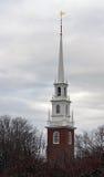 Harvard minnes- kyrkligt torn Royaltyfri Fotografi