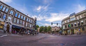 Harvard-Quadrat in Cambridge, MA, USA Lizenzfreies Stockbild