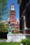 Harvard Square, Cambridge. Harvard is the oldest institution of higher learning in the United States Stock Images