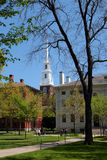 Harvard Square, Cambridge. Harvard is the oldest institution of higher learning in the United States Royalty Free Stock Images