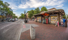 Harvard Square in Cambridge, MA, USA Royalty Free Stock Photography