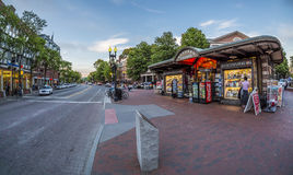 Harvard Square in Cambridge, MA, USA Stock Photos