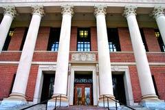 Harvard Square, USA. Harvard University campus in Cambridge, USA Stock Photo