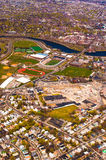 Harvard Stadium aerial Stock Photo