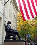 Harvard Statue Flag Royalty Free Stock Image