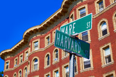Harvard street st in Cambridge Massachusetts Stock Photos