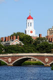 Harvard University. Footbridge and Charles River in Cambridge, Massachusetts Royalty Free Stock Photo
