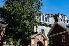 Free Harvard University Entrance Hall, Harvard, MA. Stock Image - 105111311