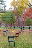 Harvard University in Fall Stock Photo