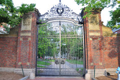 Harvard University Gate, Boston Stock Images