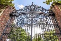 Harvard University. The historic gate of the famous Harvard University in Cambridge, Massachusetts, USA Royalty Free Stock Photography