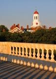 Harvard university from  John Weeks Memorial Foodbridge. Cambridge, Massachusetts, USA Royalty Free Stock Photos