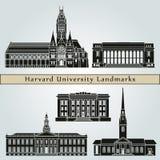 Harvard University landmarks and monuments Royalty Free Stock Photo