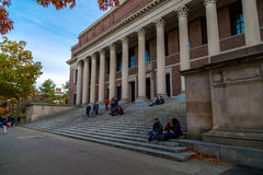 Harvard University Library. Entrance to the Harvard University library royalty free stock images