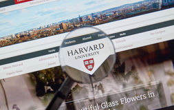 Harvard University page Stock Photo