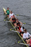 Harvard University races in the Head of Charles Regatta Men's Championship Eights Stock Images
