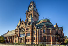 Harvard University. View of one of the historic buildings of the famous Harvard University in Cambridge, Massachusetts, USA royalty free stock photography
