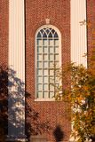 Harvard Unversity Window in Fall Stock Image