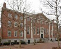 Harvard Yard at winter time Royalty Free Stock Photo