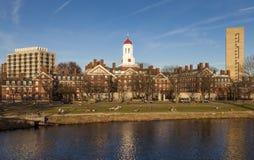 Harvarduniversitetetuniversitetsområde Arkivfoton
