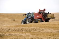 Harvest 3. Harvest time in Wiltshire, England Stock Photography
