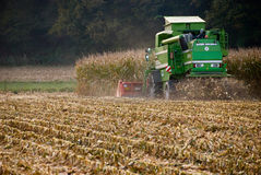 Harvest. A combine harvester at work Royalty Free Stock Photography