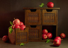 Harvest. Still life with red apples Royalty Free Stock Image