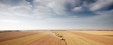 Harvest Aerial Landscape Royalty Free Stock Images
