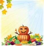 Harvest autumn background Royalty Free Stock Images