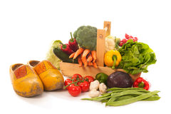 Harvest basket fresh vegetables Stock Photography