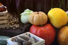 Harvest. Big pumpkins royalty free stock photography