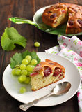 Harvest cake with grape Royalty Free Stock Photo