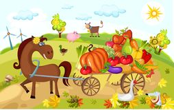 Harvest card Royalty Free Stock Photos